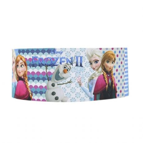 1 METRE NEW FROZEN 2 RIBBON 1 INCH ANNA ELSA OLAF HAIR BOWS HEADBANDS